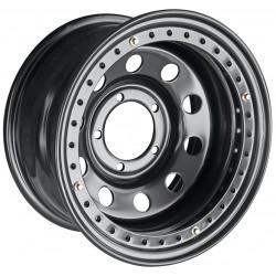 Диск усиленный УАЗ стальной черный 5x139,7 8xR16 ET-19 d110 с псевдо бедлоком (черный)