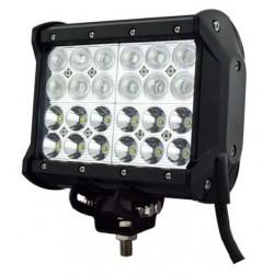 Фара светодиодная 240W  24 LED CREE X-ML T6 в два ряда  узкий луч  515*100*93 мм